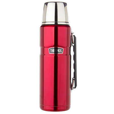NEW Thermos Red Stainless Steel Vacuum Flask 1.2L