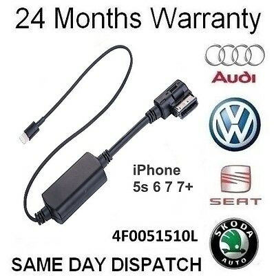 Audi VW iPod iPhone 5 5s 6 6s 7 Audio AMI Cable Adaptor Interface Lead Connector