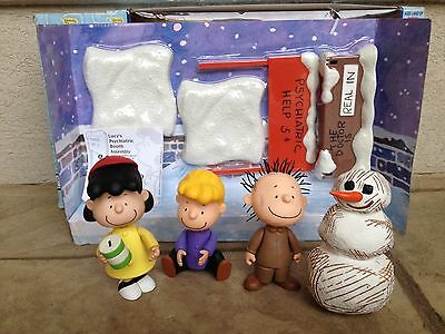 A Charlie Brown Christmas Memory Lane Figures Lucy, Schroeder, Pigpen & Snowman