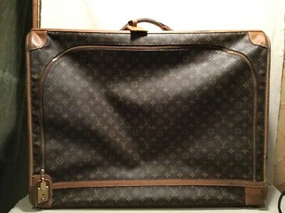 VINTAGE 1960's authentic LOUIS VUITTON LV MONOGRAM LARGE SUITCASE