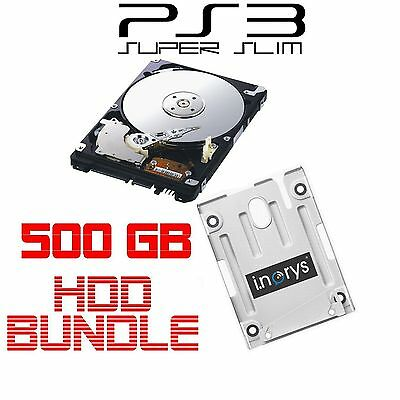 Sony 500GB Disco rigido per PS3 Superslim+HDD Staffa Di Montaggio Playstation 3