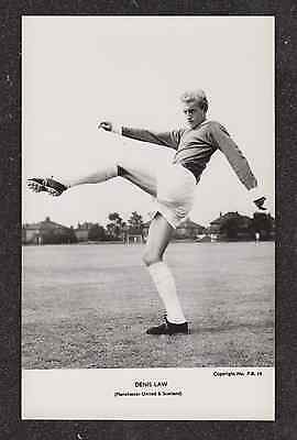 1960,s MANCHESTER UNITED FOOTBALLER DENIS LAW FOOTBALL REAL PHOTO POSTCARD
