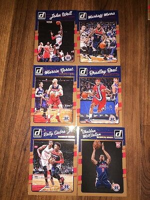 2016-17 Donruss Washington Wizards Complete Team Lot of 6