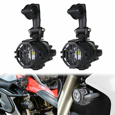 Cree LED Auxiliary Fog Lights Spot Driving Lamp + Protect Covers For BMW R1200GS