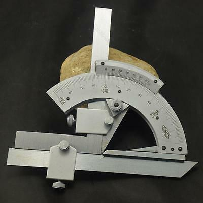 Universal Bevel Protractor 0-320° Angular #L Dial Stainless steel angle Gauge