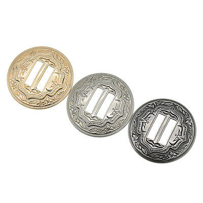 3 Pcs Western Slotted Concho With Slots Buttons DIY Sewing Making Accessories