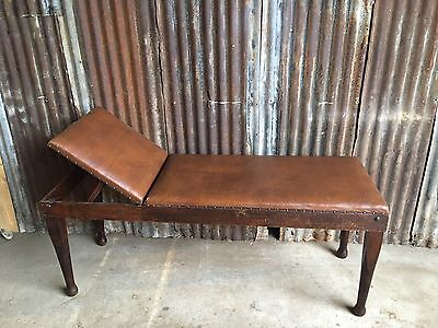 Antique Edwardian Massage Table Reynolds & Branson Tattoo Shop Parlour Bed Couch