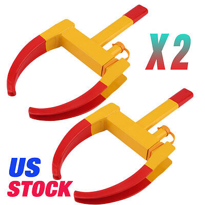 2pcs Wheel Lock Clamp Boot Tire Claw Auto Car Truck RV Boat Anti-Theft Towing MG