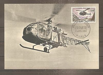 Timbre France Frankreich Pa 1958 N°37 Oblitere Used Fdc 1Er Jour