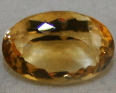 Yellow Citrine Natural Loose Gem 8X12 Oval Cut Faceted 2.2Ct Gemstone Ci17