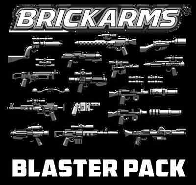 Brickarms Blaster Weapons Pack Can use with Lego BNIP