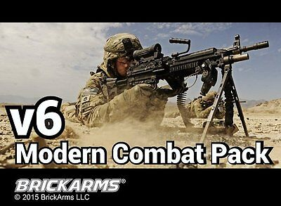 Brickarms Modern Combat V6 Pack  Can use with Lego BNIP