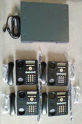 Avaya IP Office 500 V2 Business Phone System VMail 700476005 IP Phones w 4 1608I