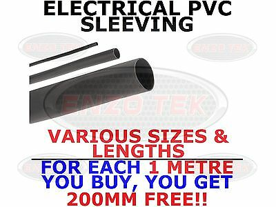 Flexible Electrical PVC Black Sleeving Wiring All Sizes & Lengths