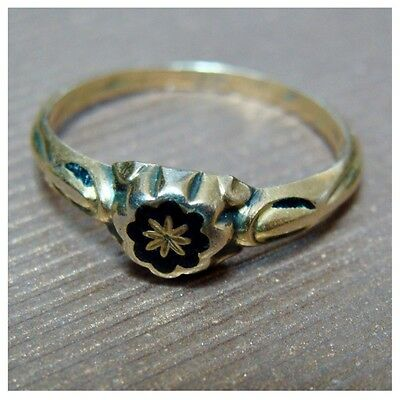 Victorian Edwardian 14K Gold 1.3 Grams Tiny Small Ring Size 5