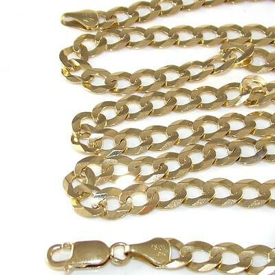 "10K Yellow Gold Curb Cuban Chain Link Necklace 28.5""  8mm QZ"