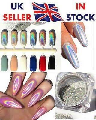 Holographic Nail Effect Powder (not polish) Rainbow Unicorn *Fast Free Delivery*