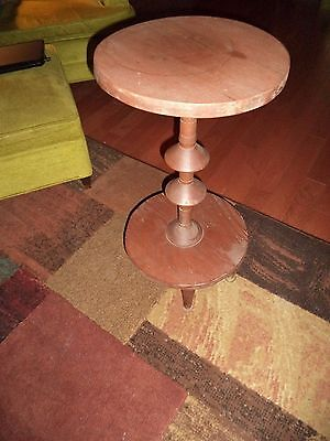 Antique Vintage 1950's 1960's Wooden Table Plant Stand Accent Table