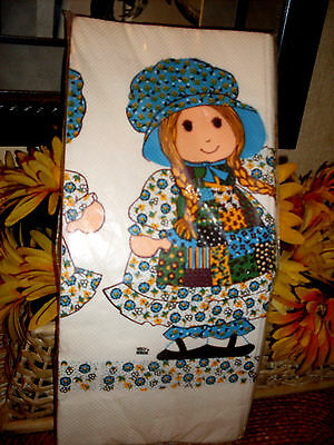 """Holly Hobbie Tablecloth Tablecover 54"""" x 96"""" ....VINTAGE 1982"""