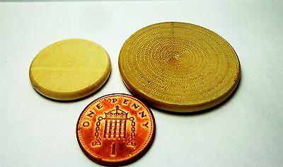 1:12 Scale DollHouse Miniature Wooden Round Chopping Board x 2 Kitchen Accessory