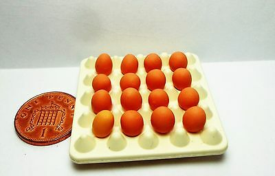 1:12 Scale 16  Eggs In A Plastic Tray Dolls House Miniature Food Accessory