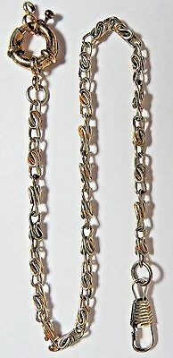 """Vintage Pocket Watch Or Knife Fob Silver Tone Chain 12 1/2"""" Long"""