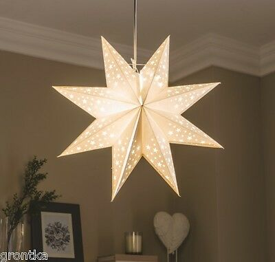 Large Modern Star Light Shade Perforated Design Dots and Stars Nursery Kids Room