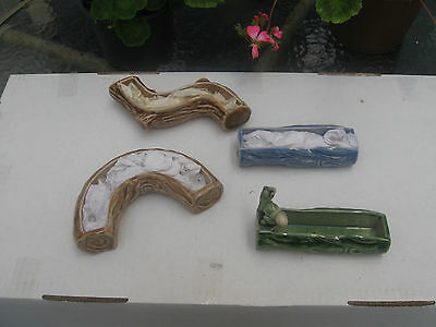Four Wade Posy Vases