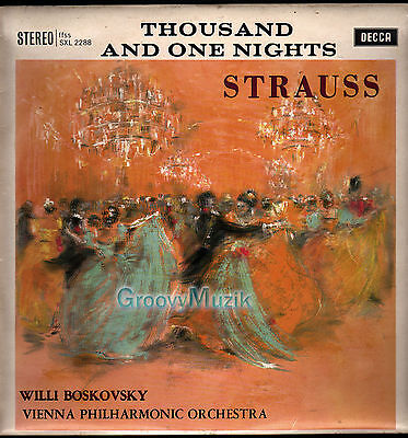 Decca SXL 2288 ED2 Strauss Thousand And One Nights VPO Willi Boskovsky LP VG+ Ex