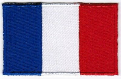 France Flag Patch Embroidered Iron On Applique French
