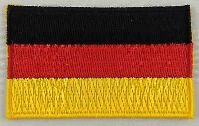 Germany Flag Patch Embroidered Iron On Badge Applique German
