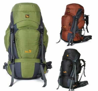 NEW DENALI 80L Sport Outdoor  HIKING  TRAVEL BACKPACK RUCKSACK RAINCOVER