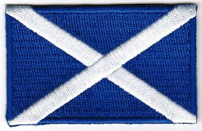 Scotland Flag Patch Embroidered Iron On Applique Scottish