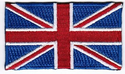 British Flag Patch Embroidered Iron On Applique UK Union Jack Britain England