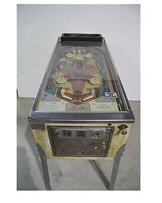 Bally Old Chicago Pinball Machine 1976 Vintage Used Missing Back Glass