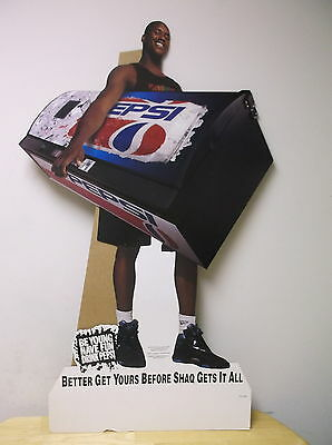Vinatage Shaquille O'neal Pepsi Stand Up  Be Young Have Fun Drink Pepsi Display