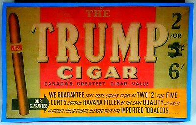 THE TRUMP CIGAR 1891 Ad by W.R.Webster&Co Sherbrooke Quebec Canada (Print) 1891