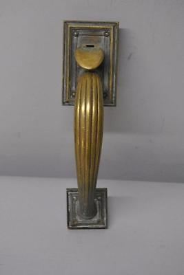 Antique Yale Brass Door Pull HD8234 / Hardware Ribbed Handle