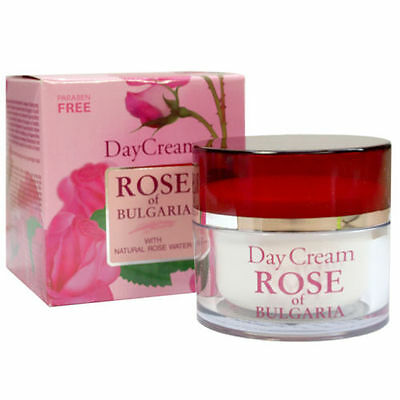 DAY CREAM with Natural Rose Water PARABEN FREE softening & regenerating the skin