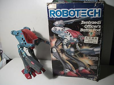 "Vintage 11"" Robotech Zentraedi Officers  Battle Pod Mech + Box Harmony Gold Rare"