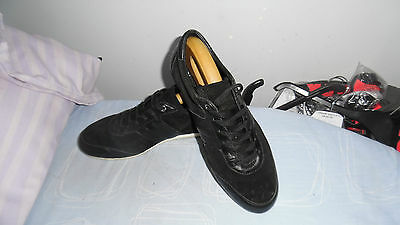 Mens Dolce & Gabbana Black Leather/suede Lace-Up Sneaker Size Uk 8