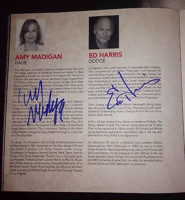 Ed Harris Signed Buried Child Theatre Programme Westworld The Abyss 100% Genuine