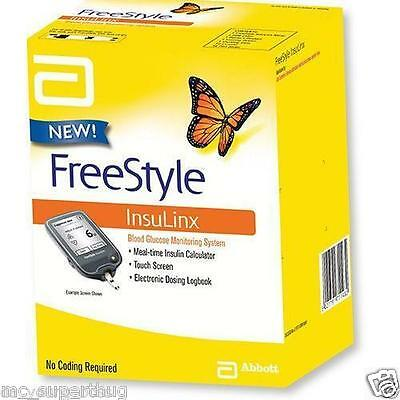 Freestyle Insulinx Blood Glucose Monitor/Meter/System + Test Strips *BRAND NEW*