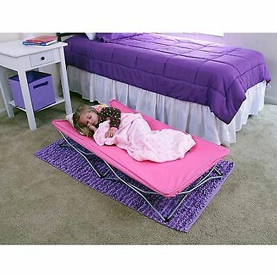 Toddler Portable Bed Travel Cot Pink Girl Child Camping Daycare Sleepover Beach