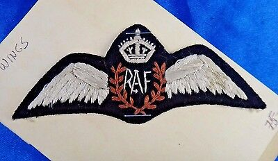 Royal Air Force RAF Wings Embroidered Padded Military Patch