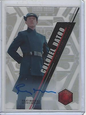 Star Wars 2016 High Tek SW-103 Rocky Marshall Autograph