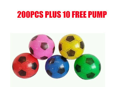 """BRAND NEW PLASTIC FOOTBALL SIZE approx 7"""" FLAT UN-INFLATED WITH NET Wholesale"""