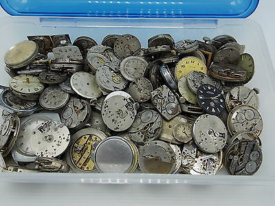 Lot of 120+ watch movements for parts or repair Mechanical automatic Bulova