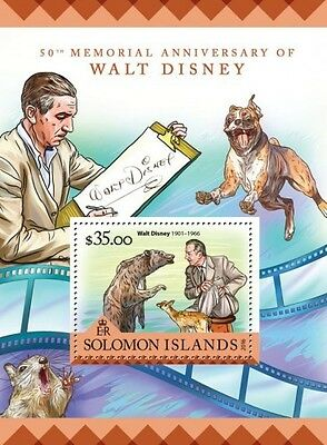 Z08 SLM16222b SOLOMON ISLANDS 2016 Walt Disney MNH