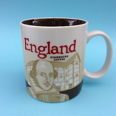STARBUCKS ENGLAND COFFEE MUG Large 16 oz Collector Series 2010 Solid Ceramic